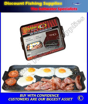 Outdoor Connection Non Stick Aluminium BBQ Plate