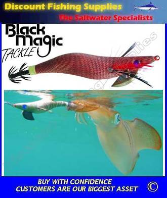 Black Magic Squid Jig - Camo/Red 2.0gr