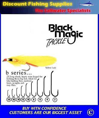 "Black Magic ""B"" Series Fly  Hooks"
