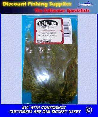 Woolly Bugger Marabou - Olive