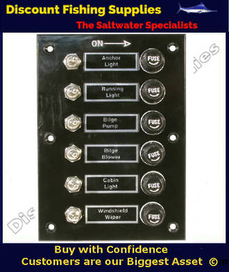 Bakelite Switch Panel - 6 Gang with Nameplates