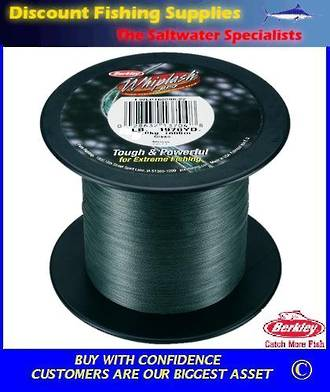 Berkley Whiplash Super Braid - 80lb X 2200yds BULK SPOOL Green