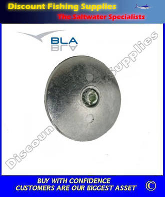 Martyr Zinc Rudder Anodes with Fixing Hole 125mm Diameter (Pair)