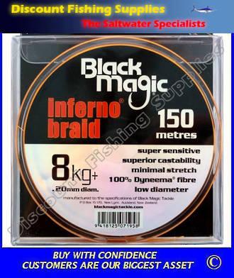 Black Magic Inferno Braid 8kg X 150m