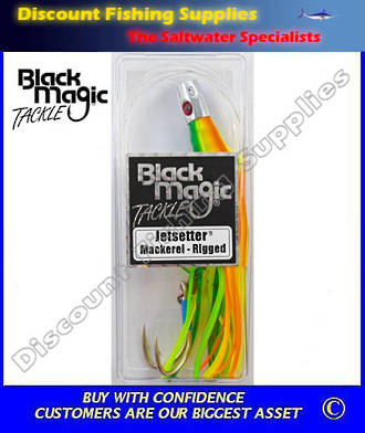 Black Magic Jetsetter Lure - Mackerel (Rigged)