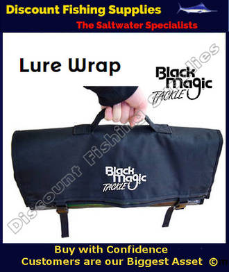 Black Magic Lure Wrap - 6 Pocket