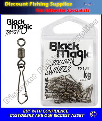 Black Magic Rolling Swivel Snap Small Pack