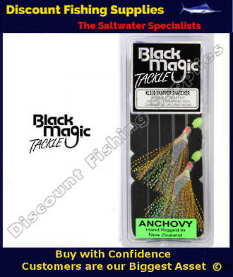 Black Magic Flasher KL5/0 Snapper Snatcher - ANCHOVY