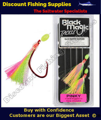 Black Magic Flasher KL4/0 Snapper Snatcher - PINKY