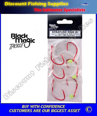 Black Magic KL Red Strayline Rigs 5/0 - 6/0