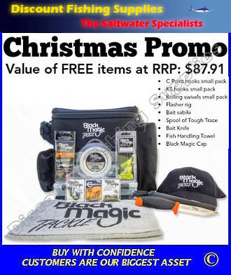 Black Magic Tackle Bag - XMAS PROMO (Total RRP Value $243-)