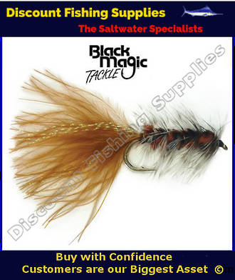 Black Magic Brown Woolly Bugger #8 Trout Fly