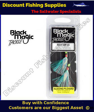 Black Magic Rock N Surf 3/0 Bleeding Pilchard Rig