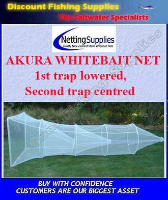 Akura 2 Trap Whitebait Sock Net - Lowered Trap ULSTRON