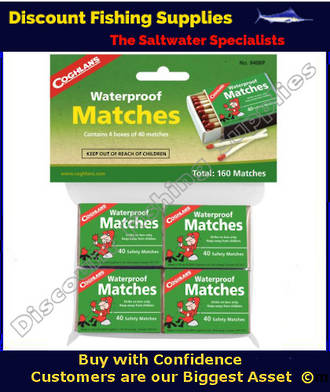 Coghlans Waterproof Matches - 4 Packets