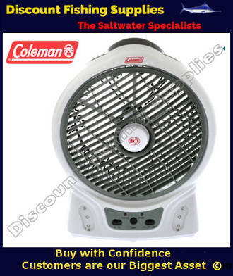 "Coleman Rechargeable 8"" Fan with LED Light"