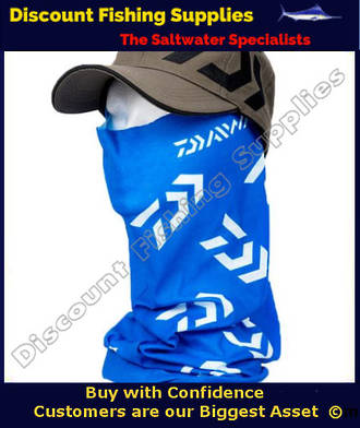 Face Shield - Daiwa Headsock Blue