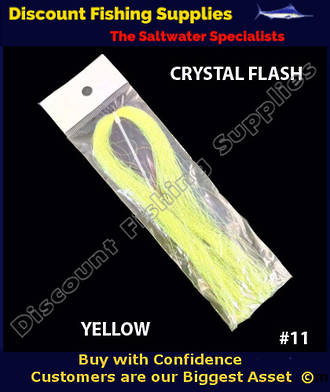 DFS Crystal Flasher Hair - Yellow