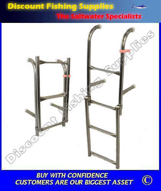 Dixon Removeable 4 step Transom Ladder