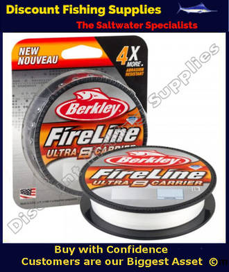 Berkley Fireline - Ultra 8 Carrier Braid - Crystal - 20lb - 300m