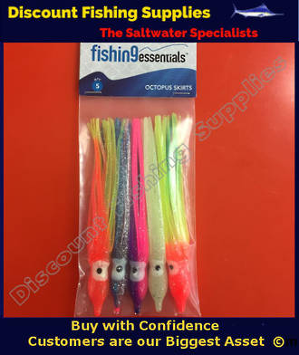 Lure Skirt 10CM Assorted Colours X 5
