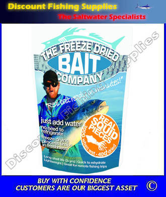 Freeze Dried Squid Bait 300gr (Original Weight 2.2KG)