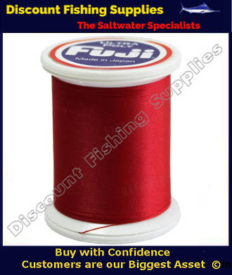 "Fuji Ultra Poly NCOP ""D"" Size Rod Binding Thread 100m Spool - Candy Apple Red"