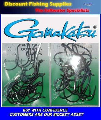 Gamakatsu Octopus Hook - 6/0 or 7/0 Value Pack
