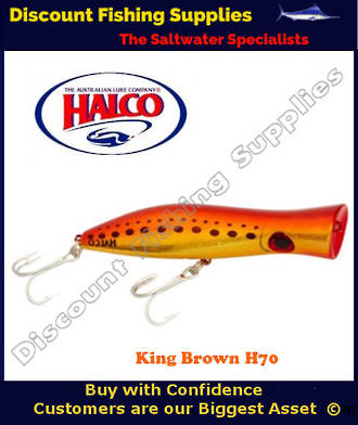 Halco Roosta Popper HAYMAKER 195mm King Brown