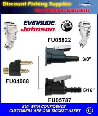 "Johnson / Evinrude Female Fuel Fitting 5/16"" (FU05787)"