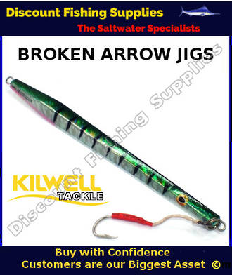 Kilwell Broken Arrow Jig 250gr - Green Mackerel