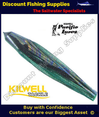 "Kilwell Pacific Lure Skirt - Green Black 12"" No13"