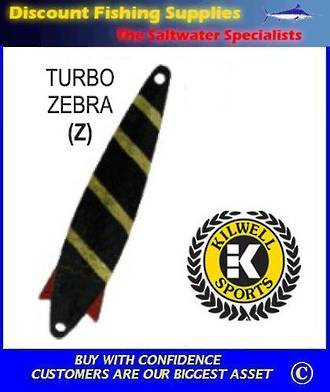 Kilwell Spinner - Turbo Zebra 10g (treble) (Bulk Pack 10)