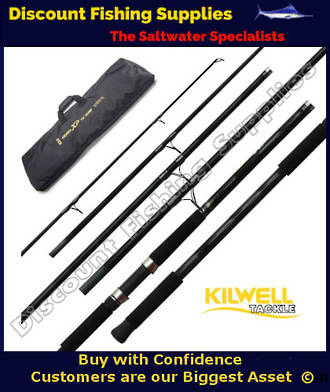 Kilwell XP 15' 100-155g 6pc Travel Surf Rod (Made by Tica)