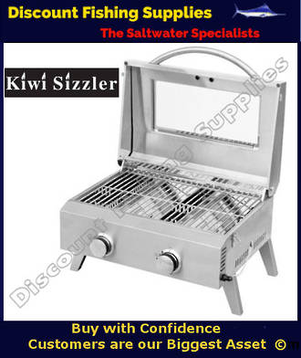 Kiwi Sizzler SS Two Burner BBQ with Window
