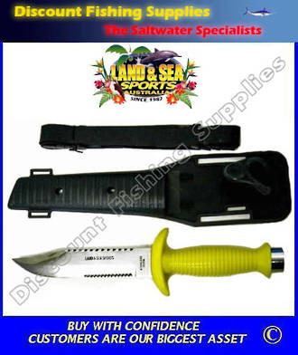 Land And Sea Sphinx Saw Cut Divers Knife