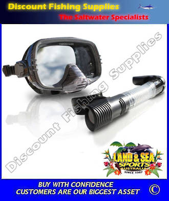 Land And Sea Stealth Executive Black Silicone Mask and Snorkel Set