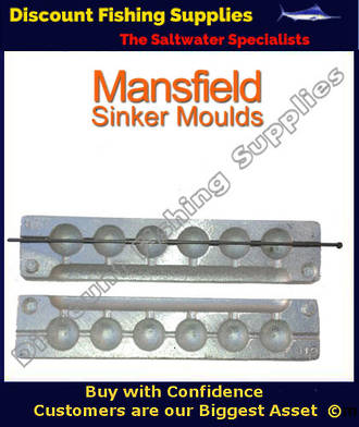 Mansfield Sinker Mould - Ball Sinker - 6 X 2oz (020)