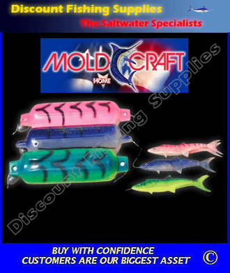 Mold Craft Fish Fender Teaser - Large Blue/White