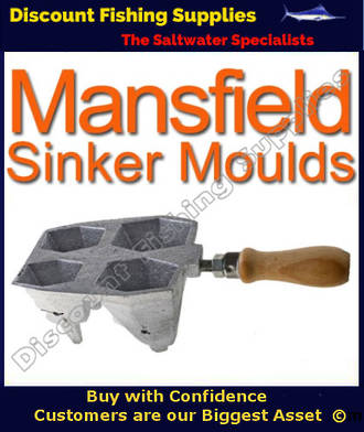 Sinker Mould - One Hole Boat wide 8 10 12 and 14oz