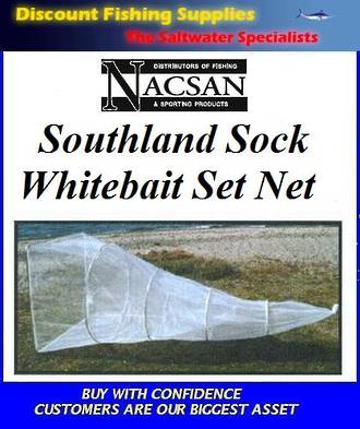 Nacsan Southland Sock 6 Ring Whitebait Setnet - 2TRAP