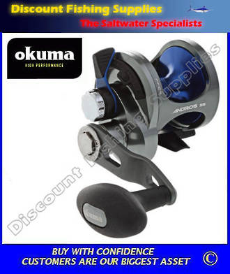Okuma Andros 5 Single Speed Lever Drag Jigging Reel
