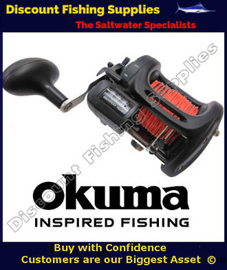 Okuma Magda MA 45DT Trolling Reel (With Line Counter) with LEADLINE