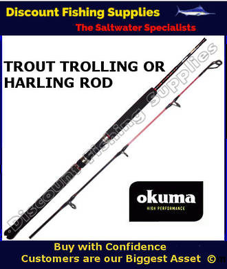 "Okuma Trout Stik 1pc 5'6"" Trout Trolling Rod"