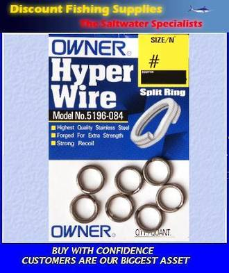 Owner Hyper Wire Split Rings #10 (99kgs)
