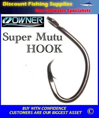 Owner Super Mutu 10/0 recurve hook
