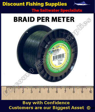 Power Pro Braid PER METER 80lb Green
