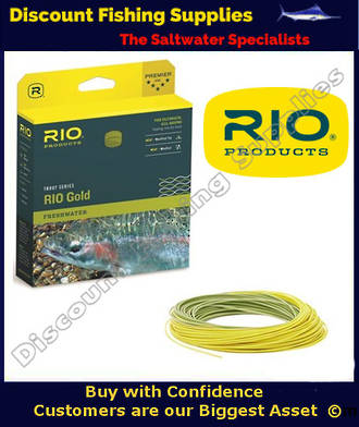 Rio Gold Floating Fly Line - WF6F Moss-Gold
