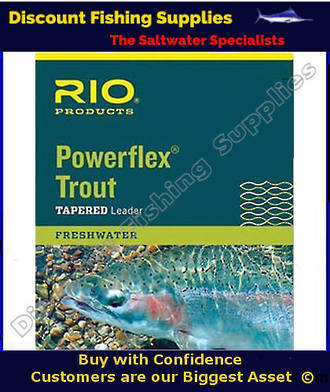 Rio Powerflex 9ft Tapered Leader 3X (8.2lb)
