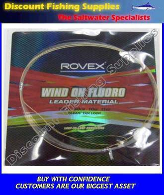 Rovex Wind-On Leader Fluorocarbon - 80lb